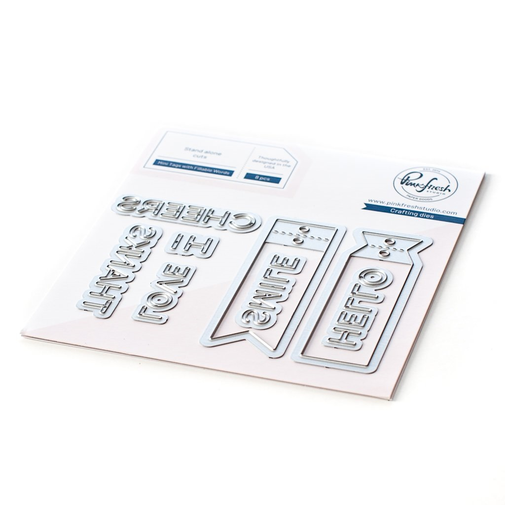 Pinkfresh Studio Die - 107021 Mini Tags with Fillable Words