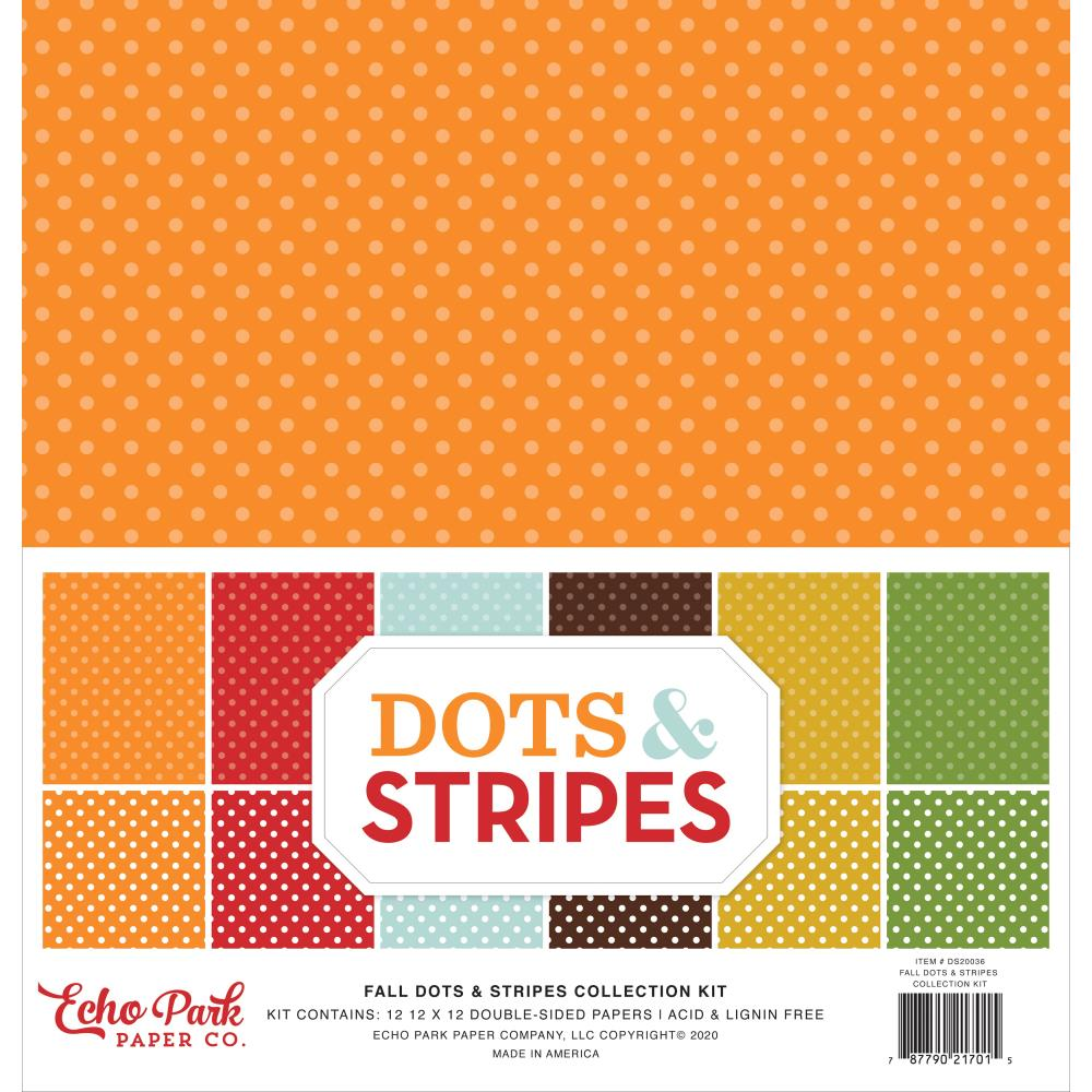 Echo Park Collection Pack 12×12 - DS20036 Dots & Stripes Fall