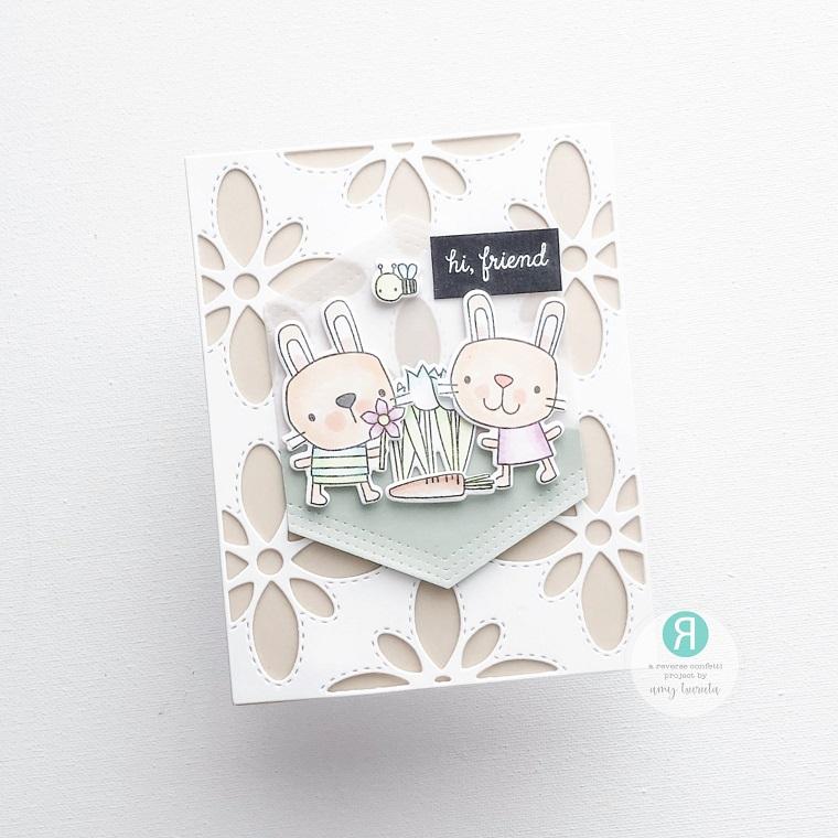 Reverse Confetti - Big Flower Cover Panel