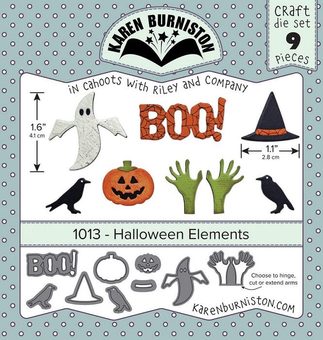 Karen Burniston Die - 1013 Halloween Elements