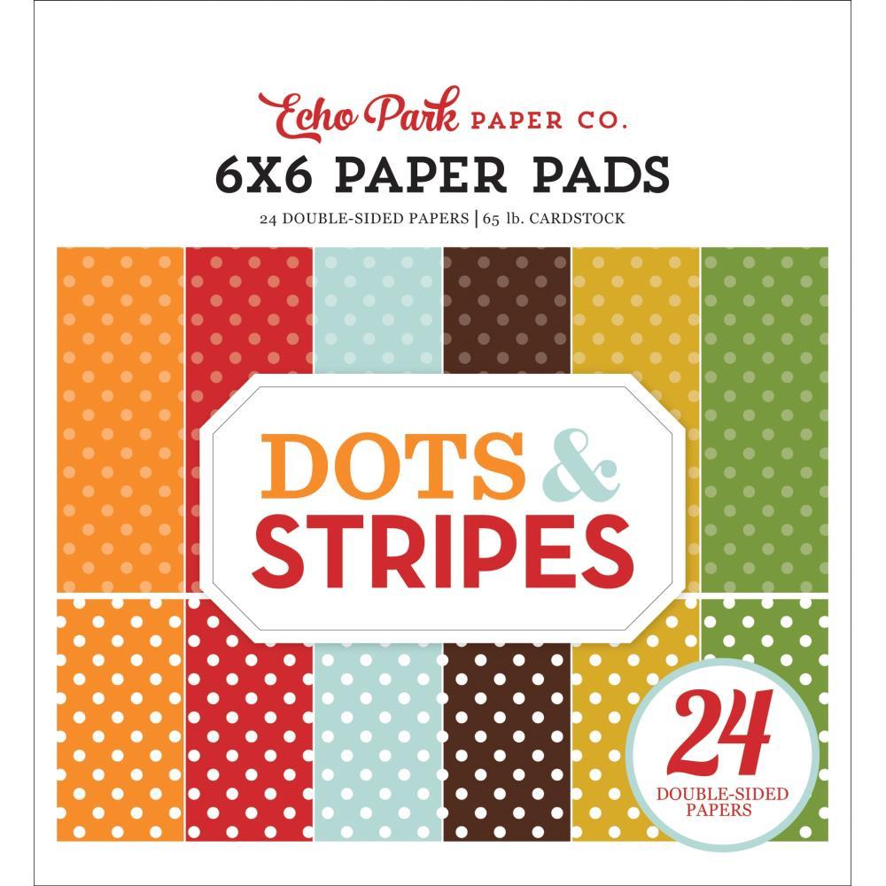 Echo Park Paper Pad 6×6 - DS20037 Dots & Stripes Fall