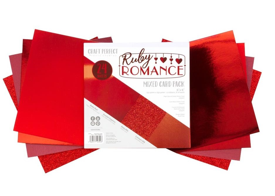 Tonic Studios Craft Perfect Mixed Card Pack - 9392E Ruby Romance