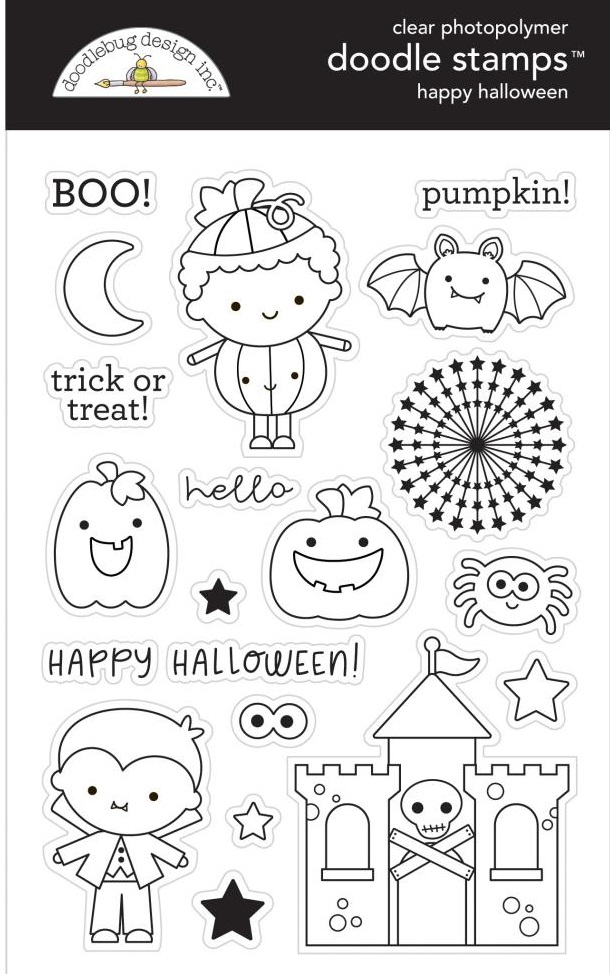 Doodlebug Clear Stamps - 6475 Candy Carnival Happy Halloween