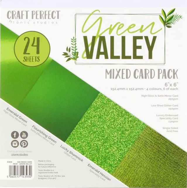 Tonic Studios Craft Perfect Mixed Card Pack - 9393E Green Valley