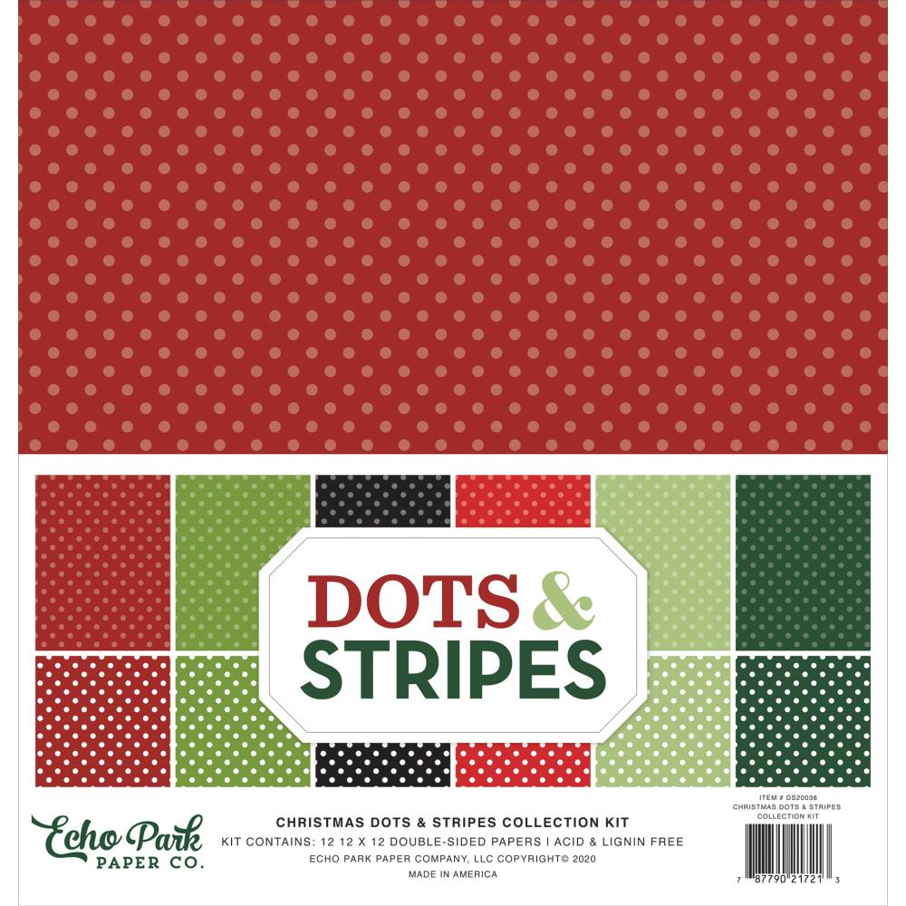 Echo Park Collection Pack 12×12 - DS20038 Dots & Stripes Christmas