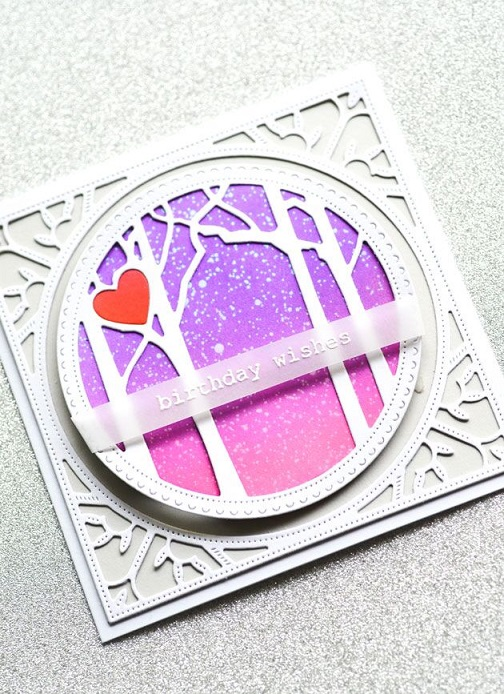 Memory Box Die  -  94121 Woodland Heart Frame