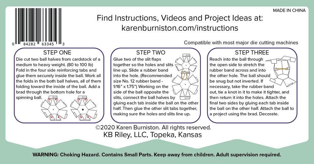 Karen Burniston Die - 1131 Bitty Ball Pop-up