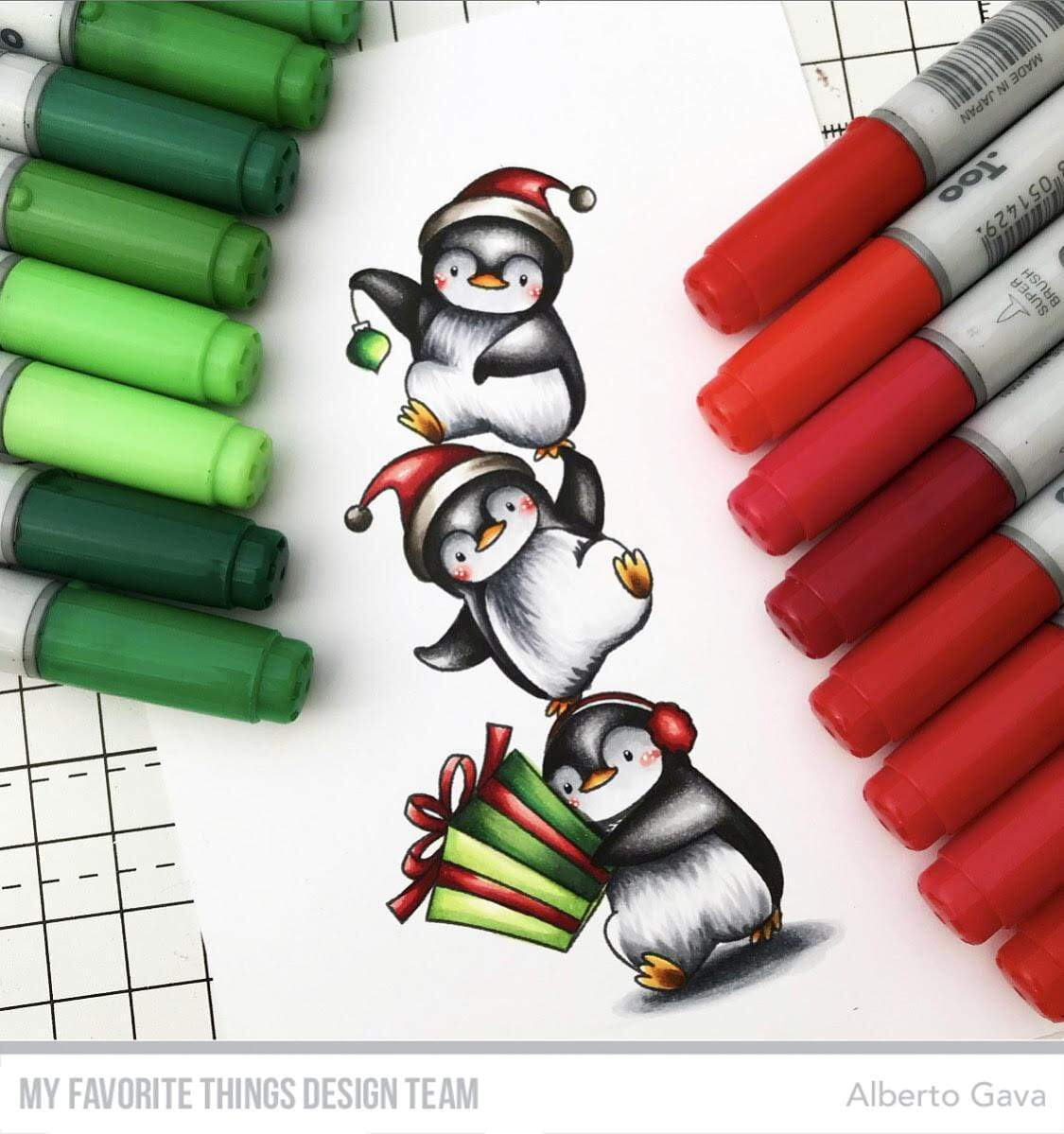 My Favorite things - BB-113 BB Holiday Penguins
