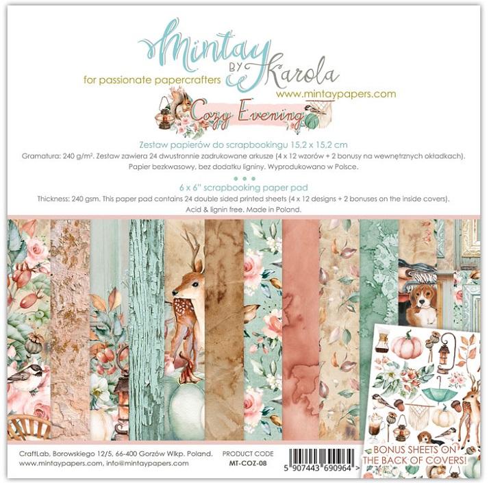 Mintay 6 x 6 Paper Set - MT-COZ-08 Cozy Evening