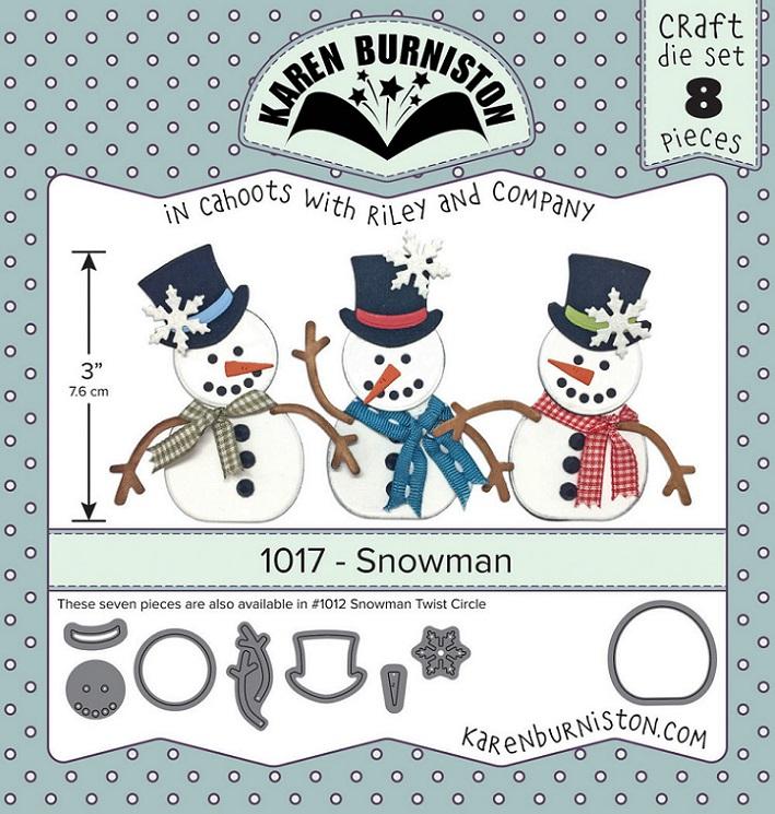 Karen Burniston Die - 1017 Snowman