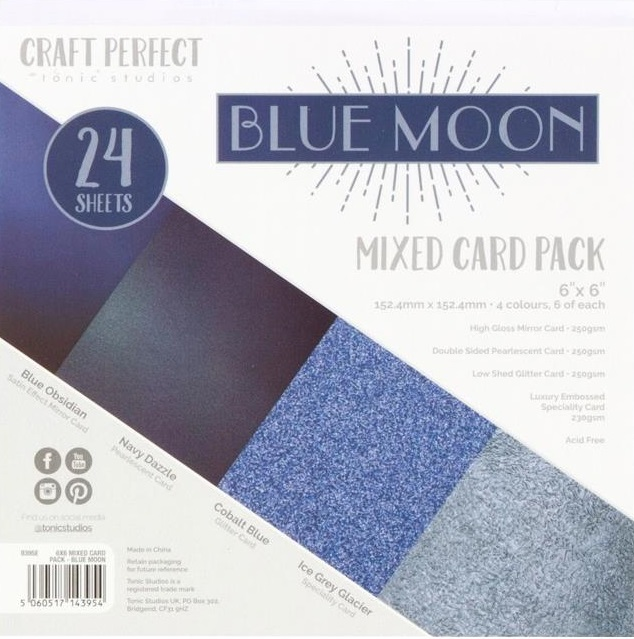 Tonic Studios Craft Perfect Mixed Card Pack - 9395E Blue Moon