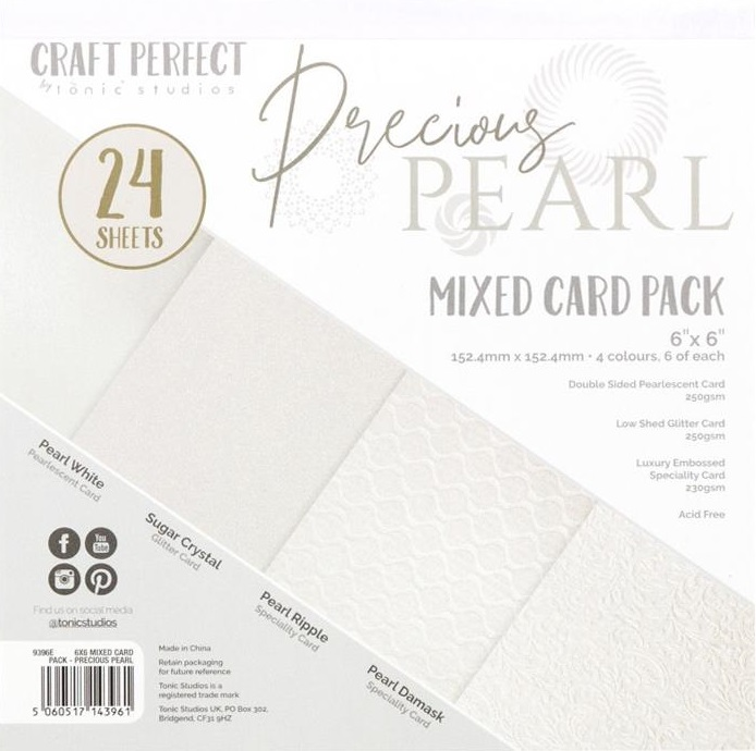 Tonic Studios Craft Perfect Mixed Card Pack - 9396E Precious Pearls