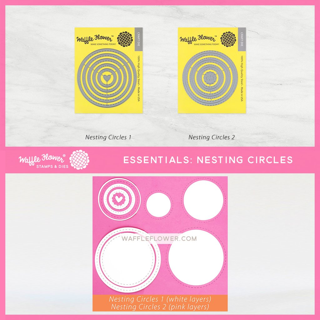 Waffle Flower Die - 310207 Nesting Circles 2