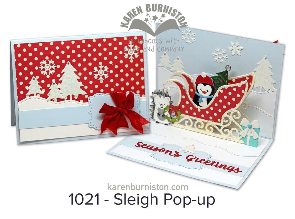 Karen Burniston Die - 1021 Sleigh Pop-Up