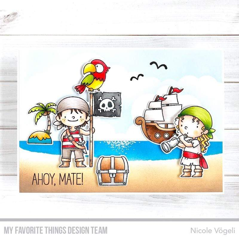 Die-namics - MFT-1812+BB-110 BB Party like a Pirate スタンプ&ダイセット♪