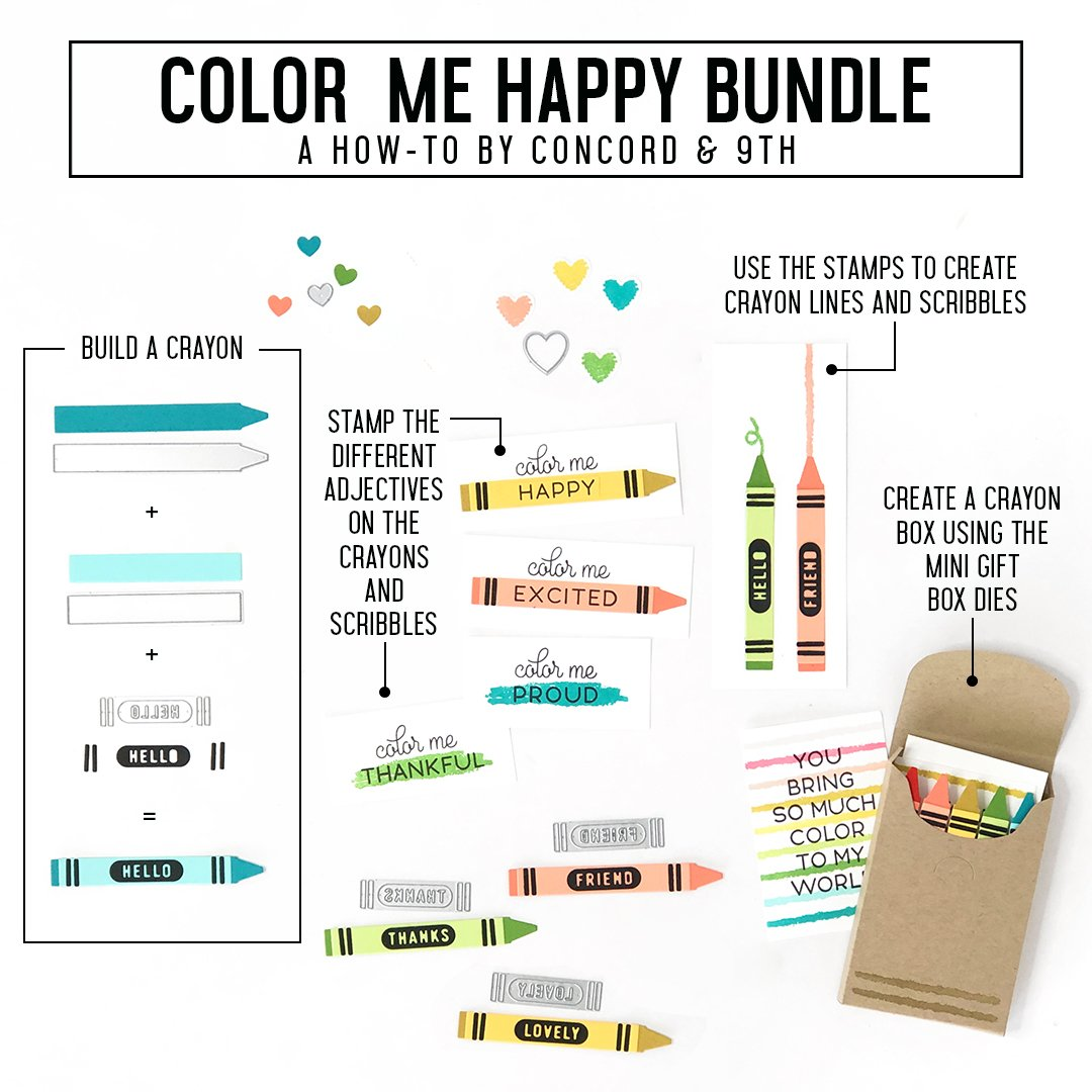 Concord & 9th Stamp - Color Me Happy