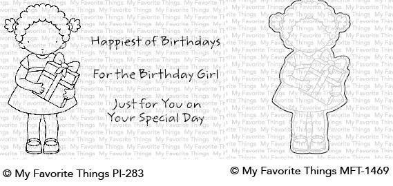 Die-namics - MFT-1469+PI-283 For the Birthday Girl スタンプ&ダイセット♪
