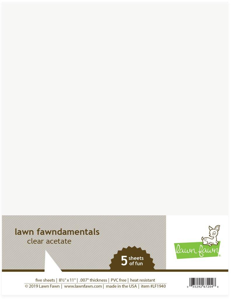 Lawn Fawn Acetate 8 1/2×11 - LF1940 Acetate Clear