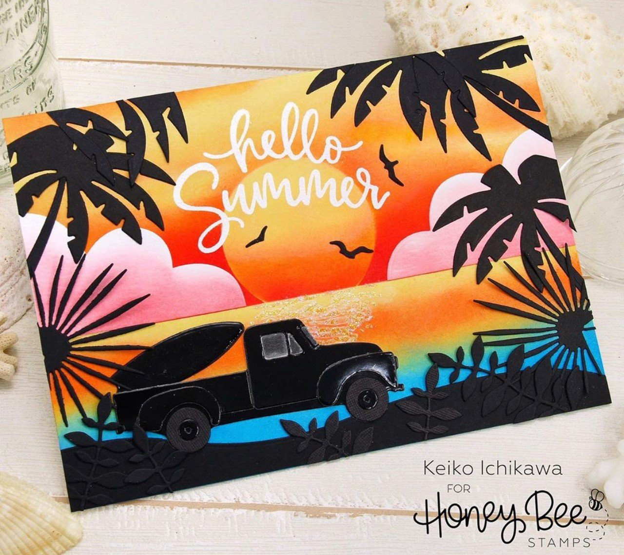 Honey Bee Stamps Honey Cuts - Beach Scene A7 Cover Plate