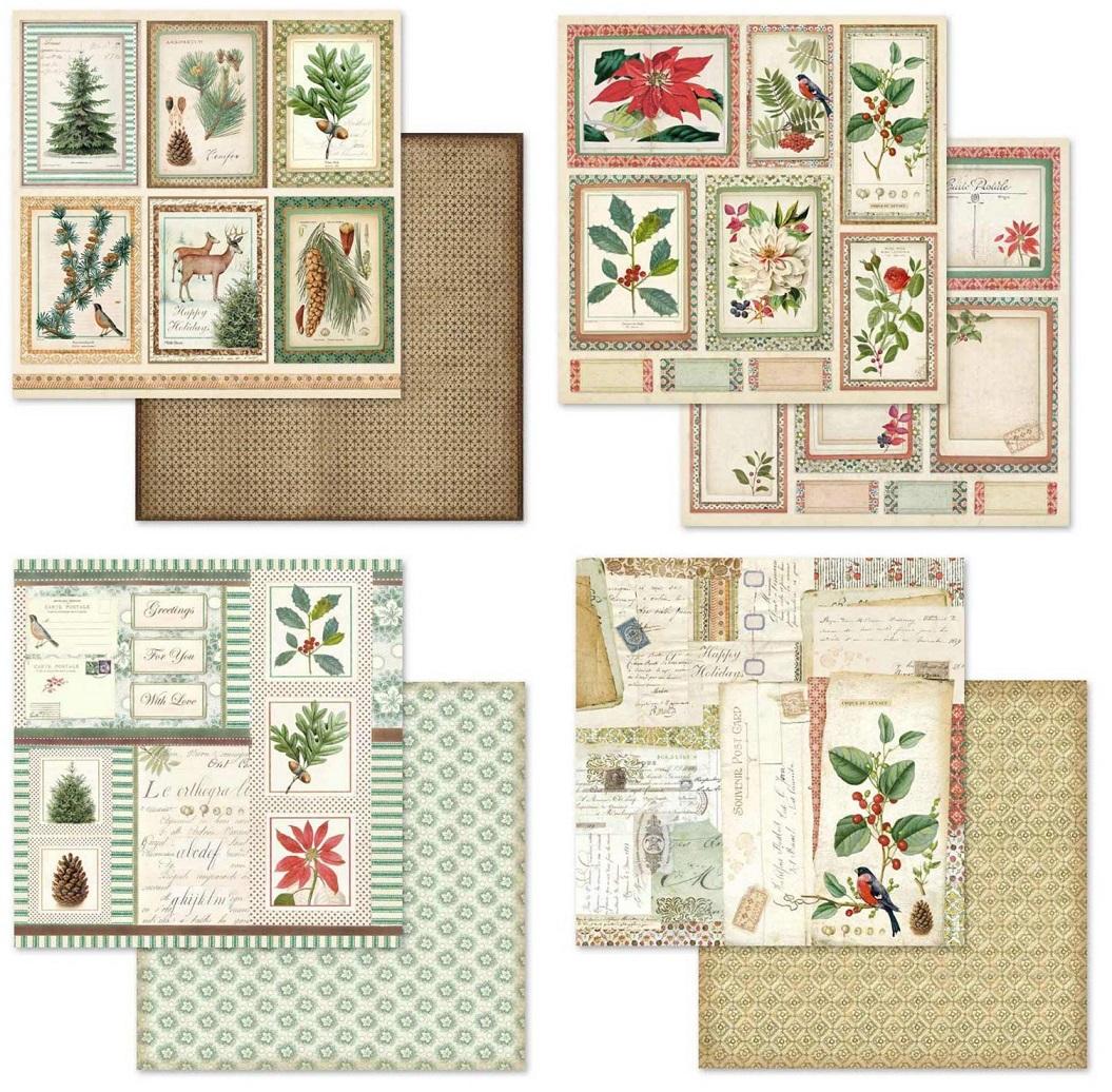 Stamperia Paper Pad 12×12 - SBBL44 Winter Botanic