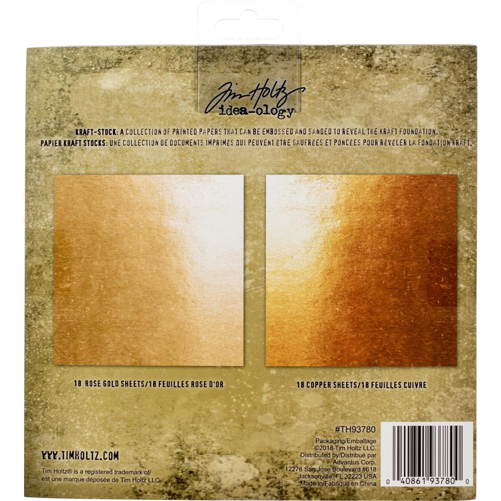 Tim Holtz  Idea-Ology - TH93780 Kraft-Stock Paper Pad 8×8 Metallic 2