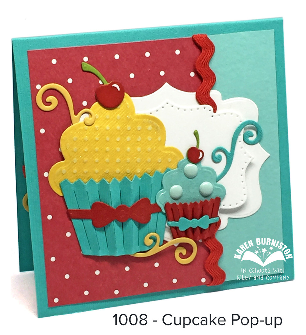 Karen Burniston Die - 1008 Cupcake Pop-Up