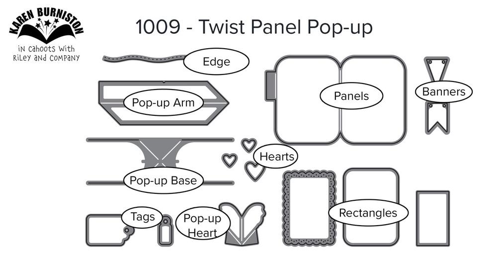 Karen Burniston Die - 1009 Twist Panel Pop-Up
