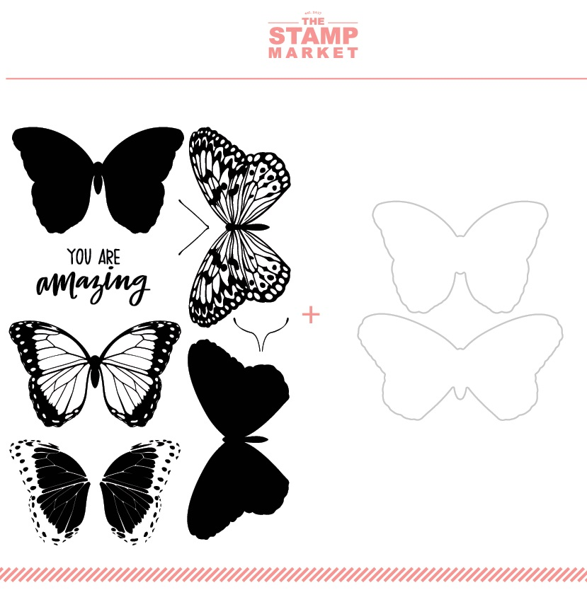 The Stamp Market セット♪ - Butterflies