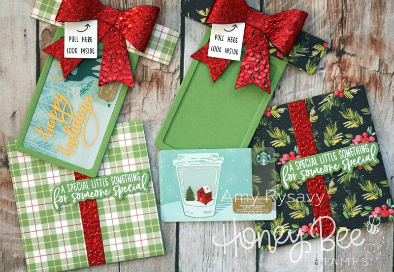 Honey Bee Stamps Honey Cuts - Gift Card Present Box