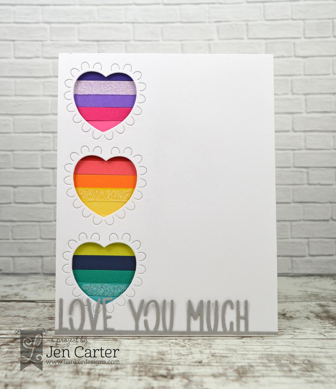 Lil' Inker Designs Die - Love You Much Border ※在庫限り※