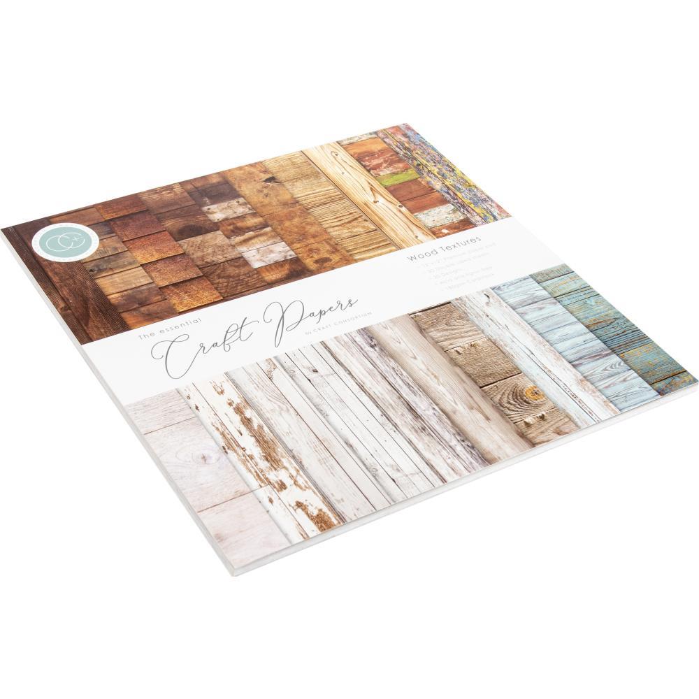 Craft Consortium Paper Pad 12×12 - CCPAD001 Wood Textures