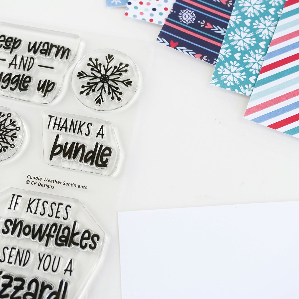 Catherine Pooler Clear Stamp - CPS1067 Cuddle Weather Sentiments