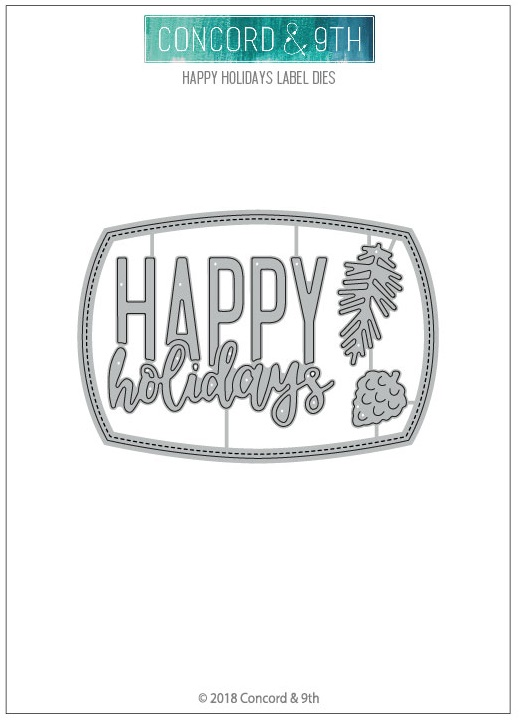 Concord & 9th Die - Happy Holidays Label