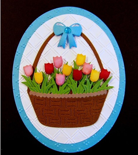Frantic Stamper Precision Dies - 09389 Easter Basket and Bow
