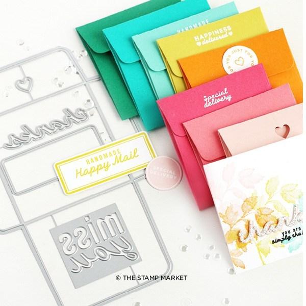 The Stamp Market Die - 3x3 Envelope