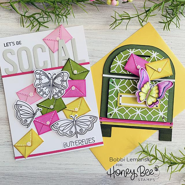 Honey Bee Stamps Honey Cuts - Post Box Card Base