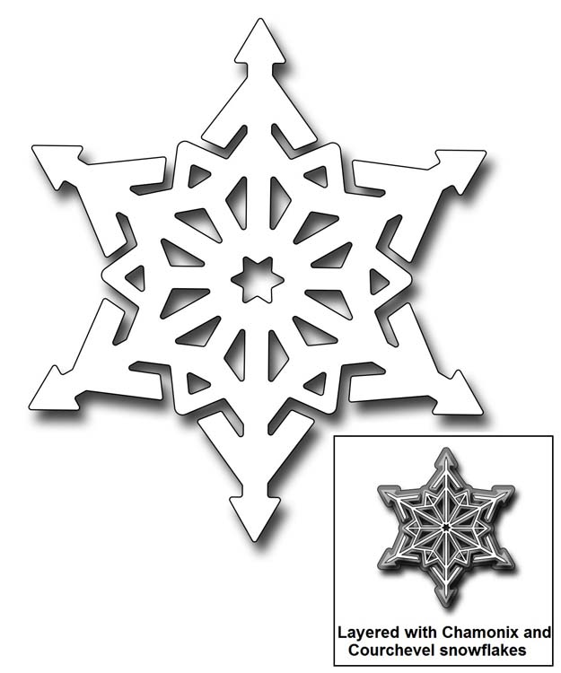 Frantic Stamper Precision Dies - 10317 Luchon Snowflake