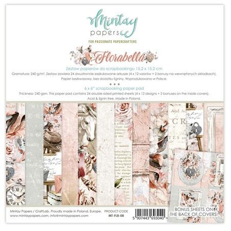 Mintay 6 x 6 Paper Set - MT-FLB-08 Florabella