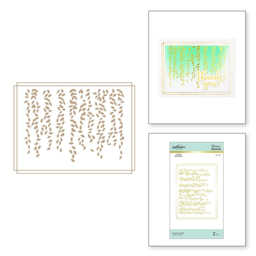 Spellbinders Glimmer Hot Foil Plates - GLP-162 Framed Details