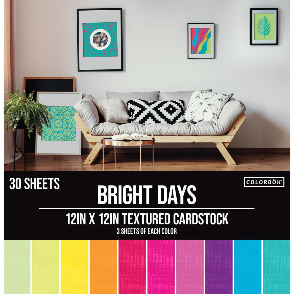 Colorbok Textured Cardstock 12inch - 61187 Bright Days