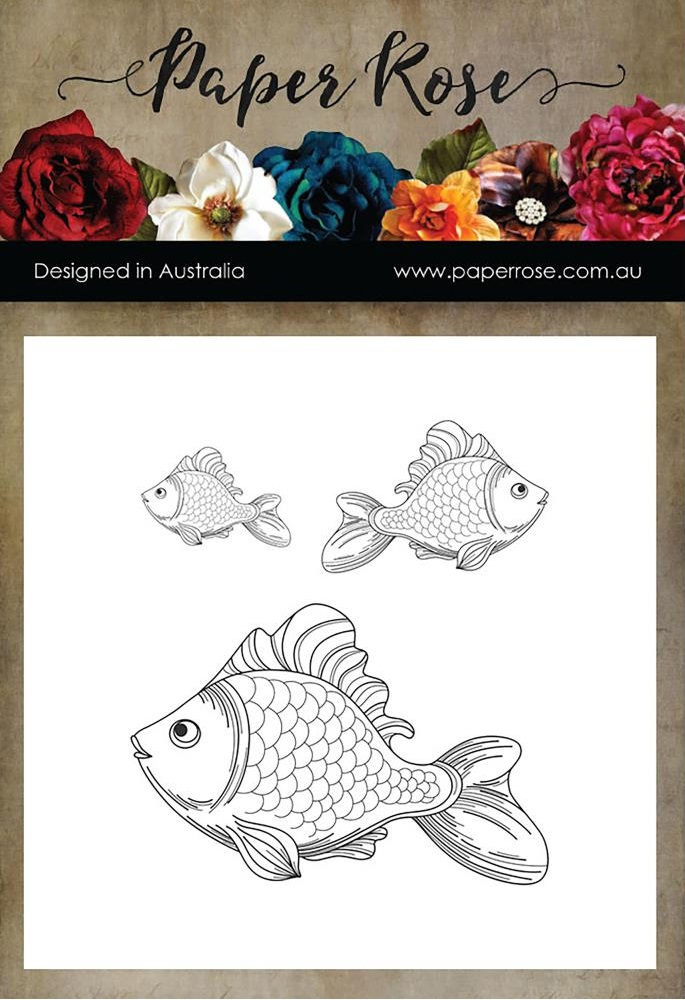 Paper Rose Cling Stamps - 17175 Fish Trio