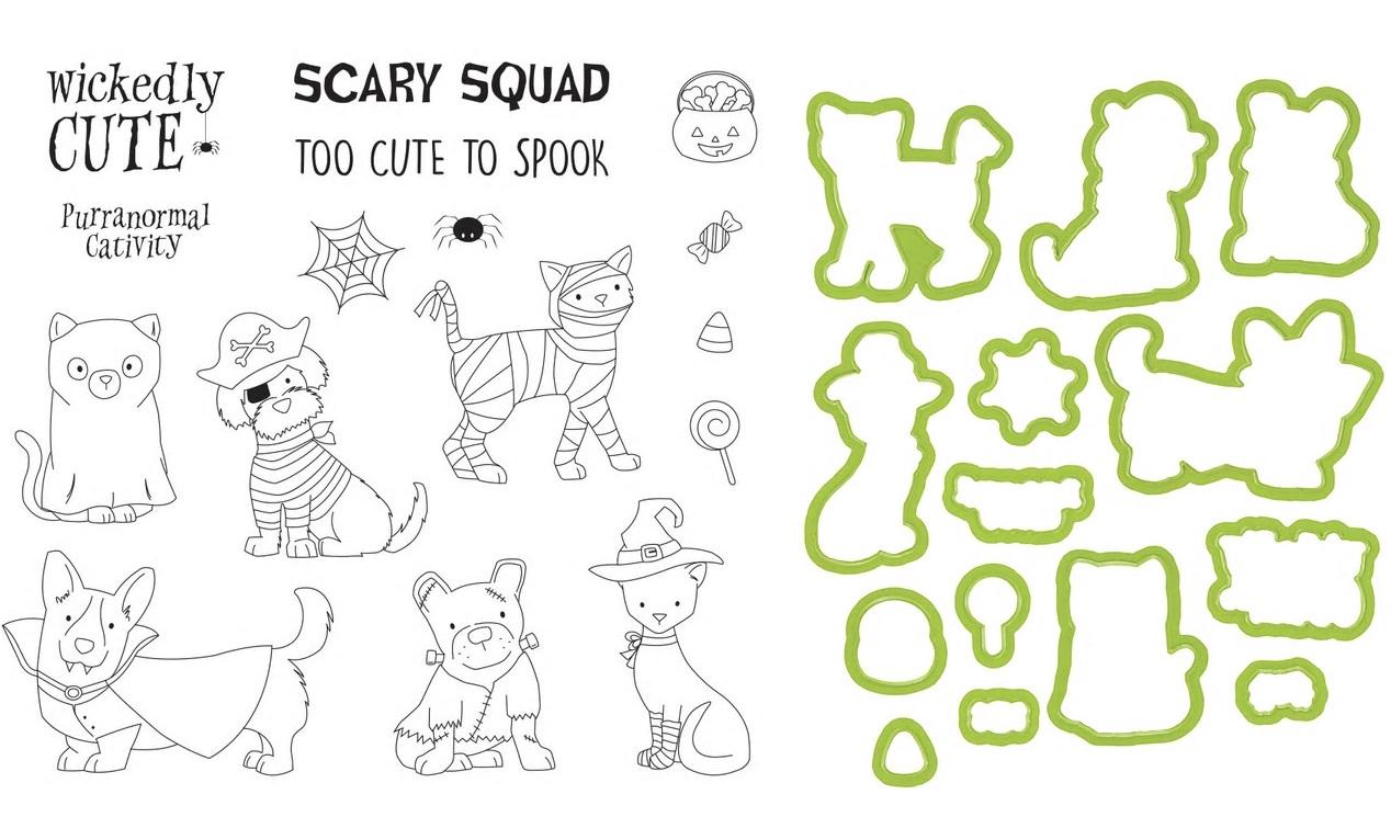 Spellbinders Stamp & Die Set - SS-0703+DI-0554 Costumed Cuties