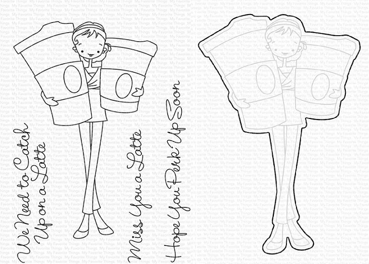 Die-namics - MFT-1594+CS-415 ALM Miss You a Latte スタンプ&ダイセット♪ ※在庫限り※