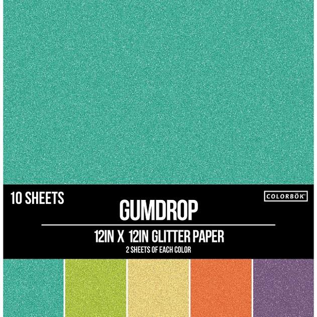 Colorbok Glitter Paper 12inch - 74642 Gumdrop
