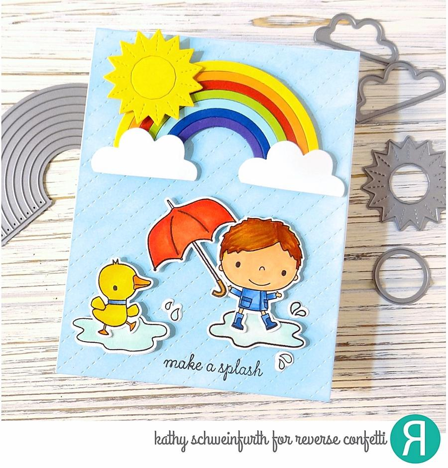 Reverse Confetti Clear Stamp - Rainy Day Fun