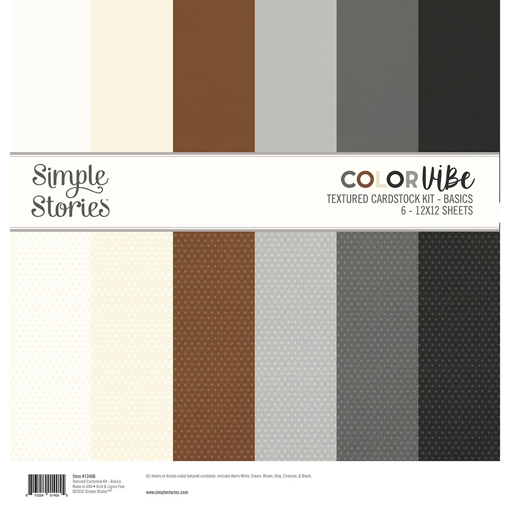 Simple Stories Color Vibe Paper Pack 12×12 - 13406 Basics