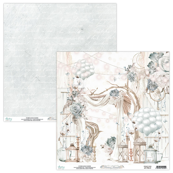 Mintay 12 x 12 Paper Set - MT-PRE-07  Precious Moment
