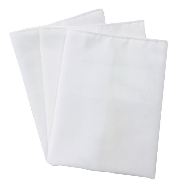 ガーゼハンカチ(3枚入り) 白