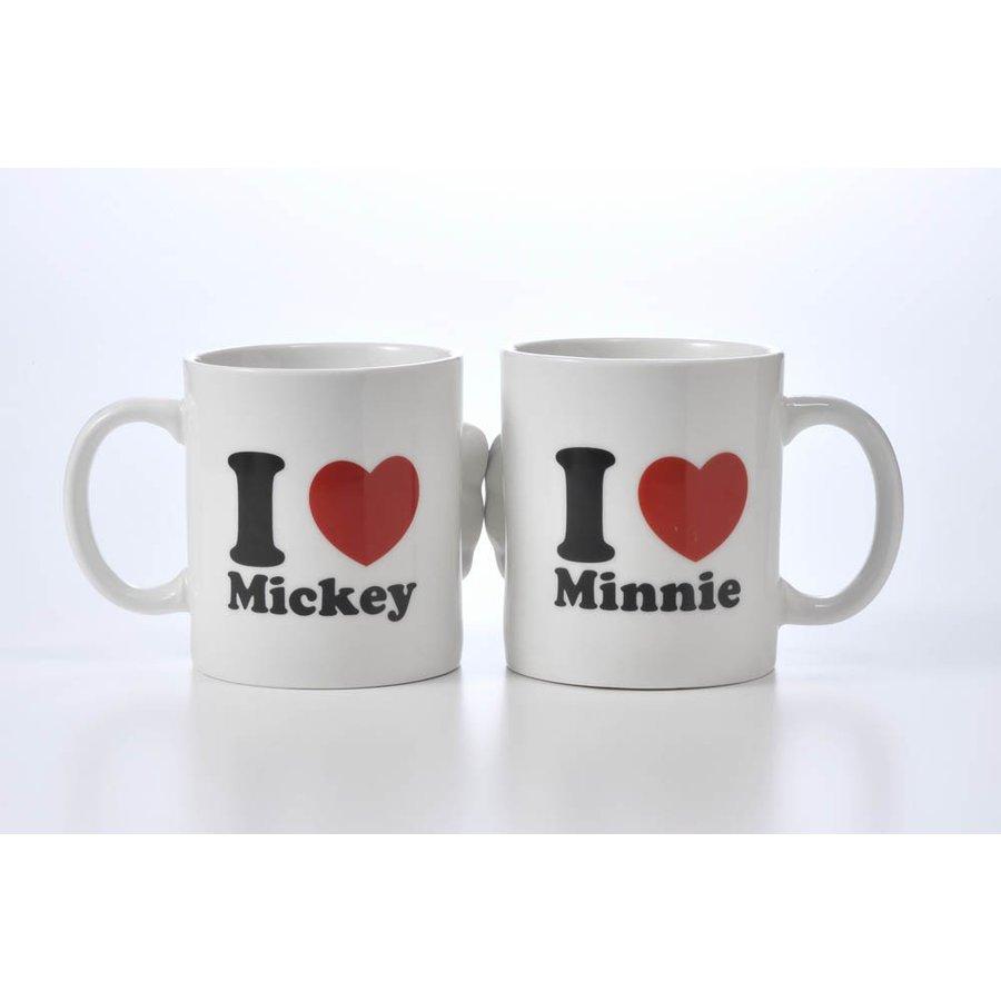 名入れ ミッキーマウス&ミニーマウス ペアマグカップKISS