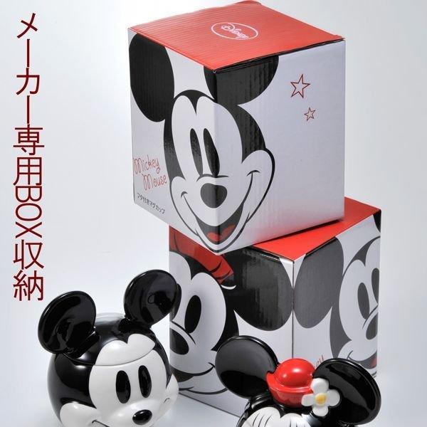 名入れ ミッキーマウスorミニーマウス フタ付きマグカップ 単品